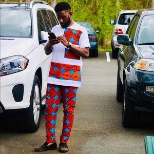 Men's Africa Print 2Pc + Pants